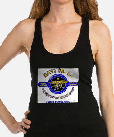 NAVY SEALS THE ONLY EASY DAY WA Racerback Tank Top