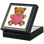 Valentine Art Heart and Teddy Bear Keepsake Box