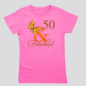 50th Birthday Butterfly Girl's Tee