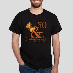 50th Birthday Butterfly Dark T-Shirt