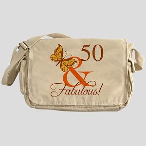 50th Birthday Butterfly Messenger Bag