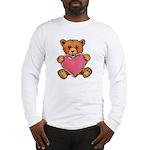 Valentine Heart and Teddy Bear Long Sleeve T-Shirt