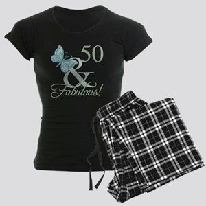 50th Birthday Butterfly Women's Dark Pajamas