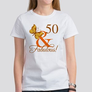 50th Birthday Butterfly T-Shirt