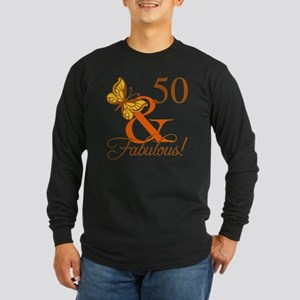 50th Birthday Butterf Long Sleeve T-Shirt