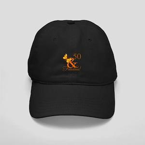 50th Birthday Butterfly Black Cap