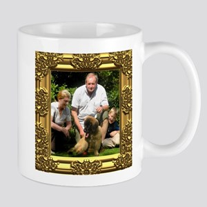 Custom gold baroque framed photo Mug