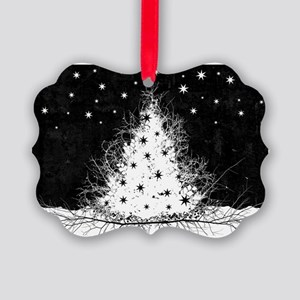 Gothic Branches Christmas Tree Picture Ornament