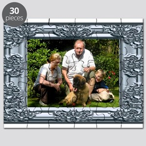 Custom silver baroque framed photo Puzzle
