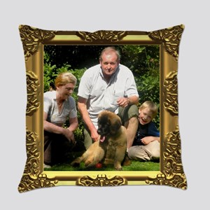 Custom gold baroque framed photo Master Pillow