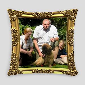 Custom gold baroque framed photo Master Pillow