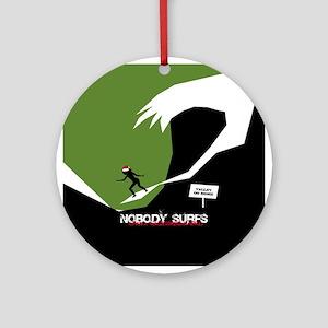 Nobody Surfs Like a California Girl Round Ornament