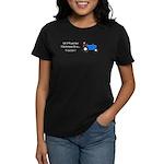 Blue Christmas Tractor Women's Dark T-Shirt