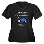 Blue Christm Women's Plus Size V-Neck Dark T-Shirt