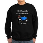 Blue Christmas Tractor Sweatshirt (dark)