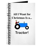 Blue Christmas Tractor Journal