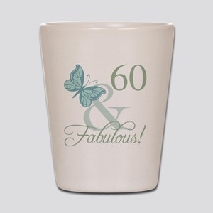 60th Birthday Butterfly Shot Glass