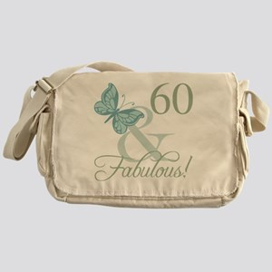 60th Birthday Butterfly Messenger Bag