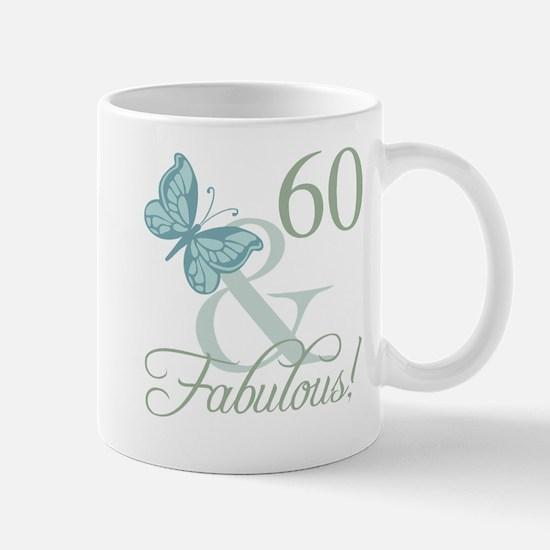60th Birthday Butterfly Mug