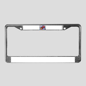 Rocket, fun art License Plate Frame
