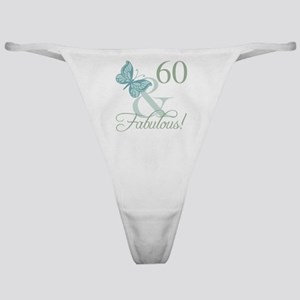 60th Birthday Butterfly Classic Thong