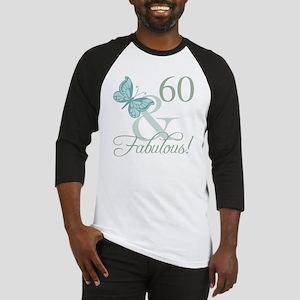 60th Birthday Butterfly Baseball Jersey