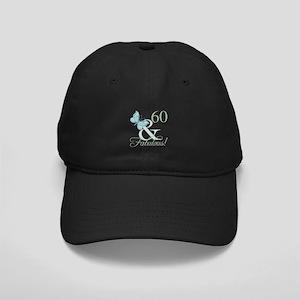 60th Birthday Butterfly Black Cap
