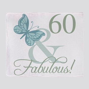 60th Birthday Butterfly Throw Blanket