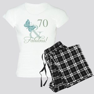 70th Birthday Butterfly Women's Light Pajamas