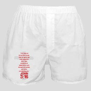 John 3:16 Cross Boxer Shorts