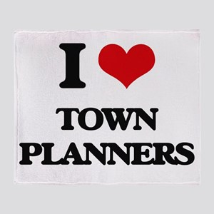 I love Town Planners Throw Blanket