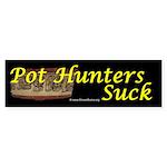 Pot Hutners Suck - Maya bowl Bumper Sticker