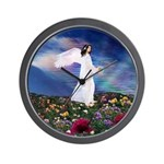 October Birthday Angel : Wall Clock