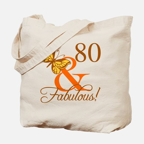 80th Birthday Butterfly Tote Bag