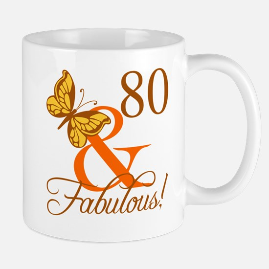 80th Birthday Butterfly Mug