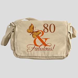 80th Birthday Butterfly Messenger Bag