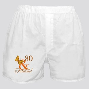 80th Birthday Butterfly Boxer Shorts