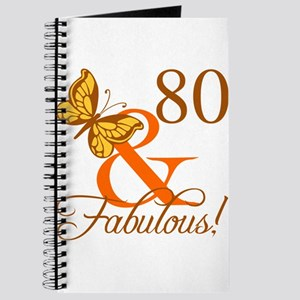 80th Birthday Butterfly Journal