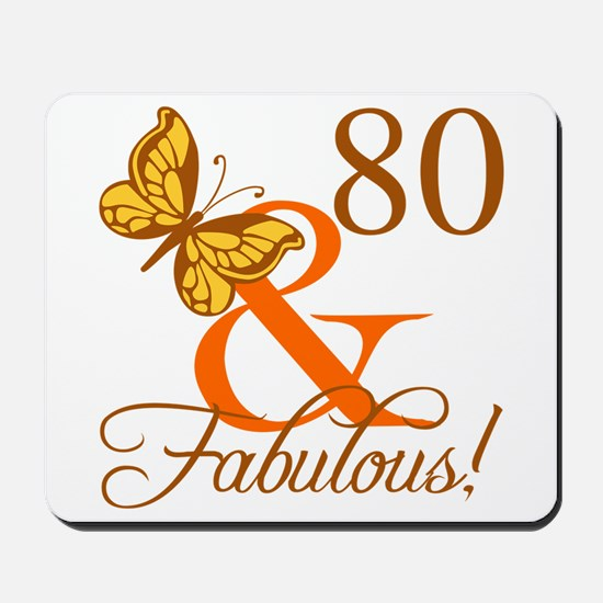 80th Birthday Butterfly Mousepad