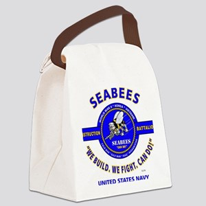 "SEABEES UNITED STATES NAVY ""WE BU Canvas Lunch Bag"