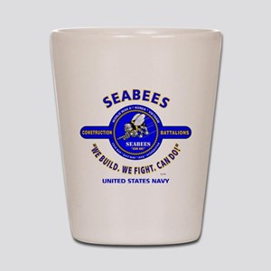 "SEABEES UNITED STATES NAVY ""WE BUILD, W Shot Glass"
