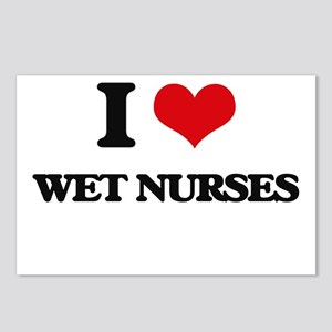 I love Wet Nurses Postcards (Package of 8)