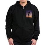 Red Roses At Sunset Zip Hoodie