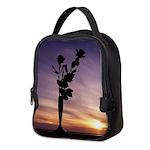 Red Roses At Sunset Neoprene Lunch Bag