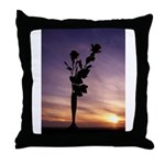 Red Roses At Sunset Throw Pillow
