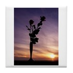 Red Roses At Sunset Tile Coaster