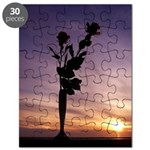 Red Roses At Sunset Puzzle