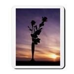 Red Roses At Sunset Mousepad
