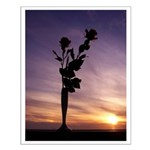 Red Roses At Sunset Posters