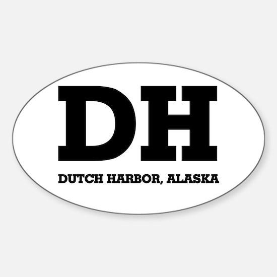 Dutch Harbor, Alaska Oval Decal